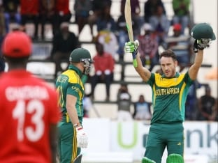 Du Plessis Leads Proteas into Triangular Final with Third Ton