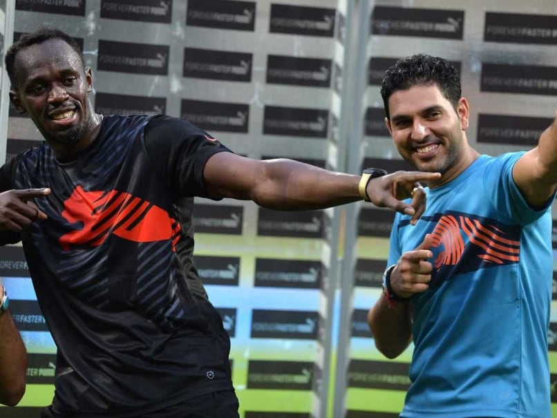 Usain Bolt Wows Bangalore Crowd in Cricket Contest With Yuvraj Singh