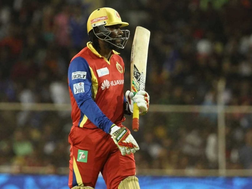 chris gayle out vs rajasthan