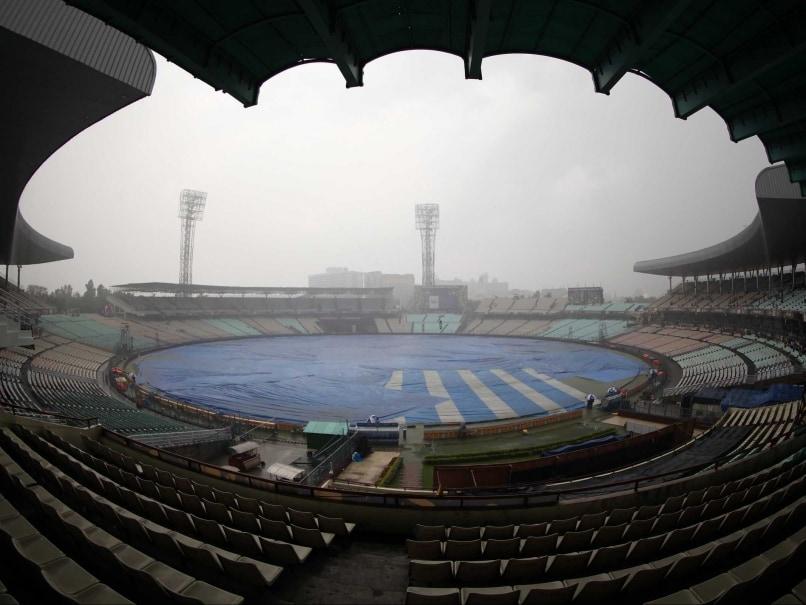 Eden Gardens Kolkata Rain KKR v RR IPL 2015