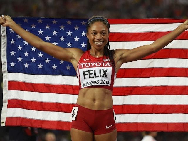 World Athletics: Allyson Felix of USA Wins Gold in Womens 400m Sprint
