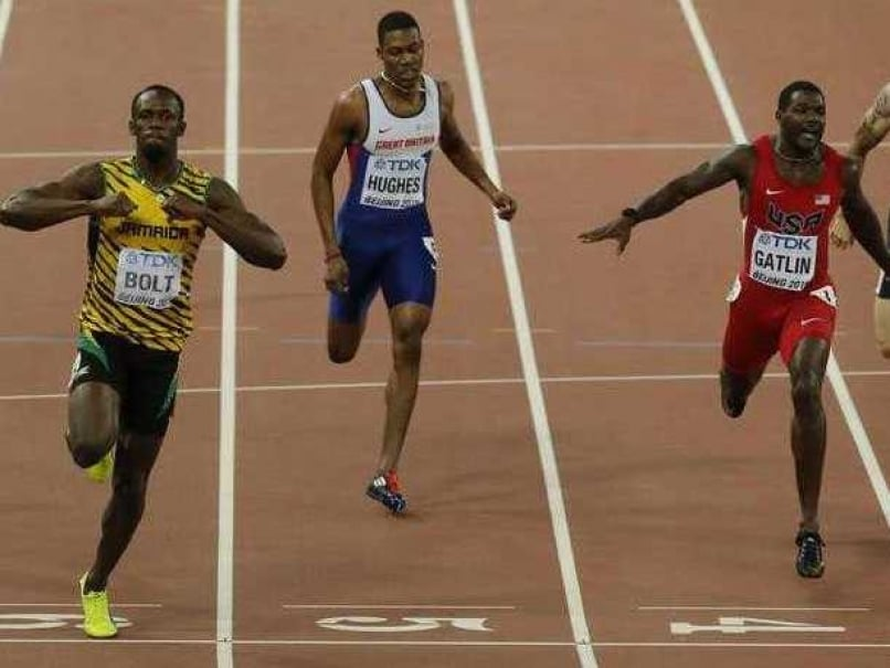 Usain Bolt Toys With Justin Gatlin to Complete Sprint Double at World Athletics