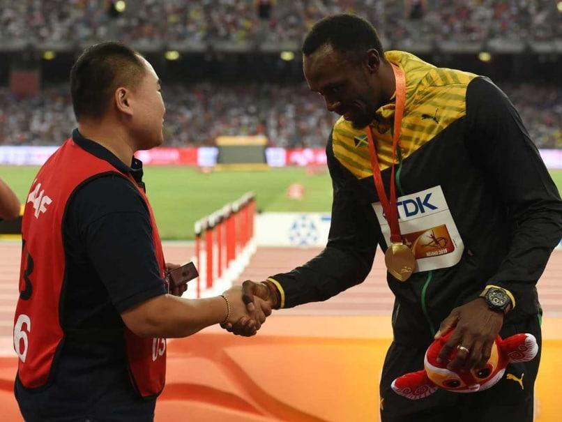 Usain Bolt & Cameraman Kiss and Make up