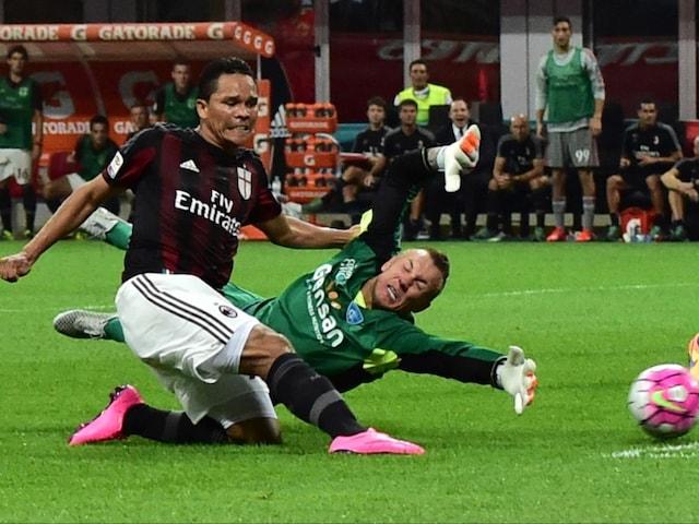 Carlos Bacca and Luiz Adriano on Target as AC Milan Beat Empoli