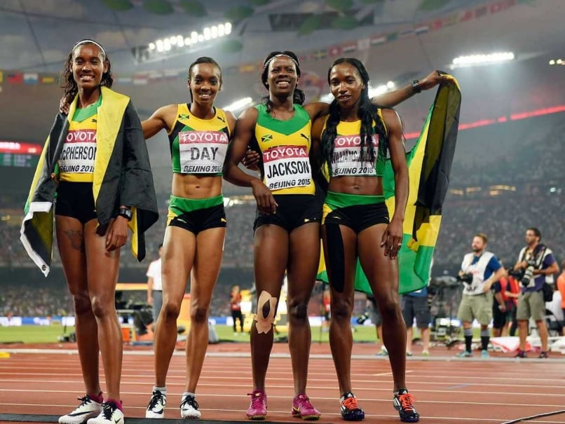 World Athletics Jamaica Stun Usa To Win Women S Relay