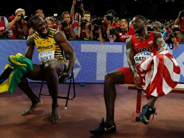 Usain Bolt Shows Justin Gatlin Whos Boss