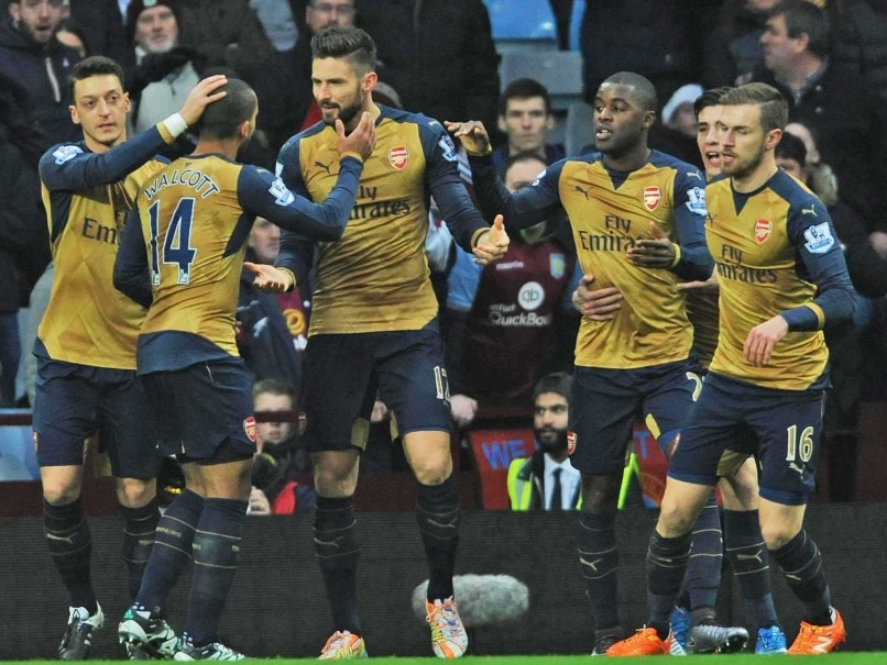 Arsenal F.C. Beat Aston Villa to go Top of Premier League