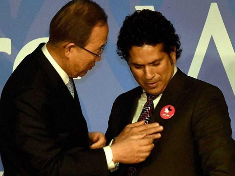 Sachin Tendulkar Set to Bat for United Nations