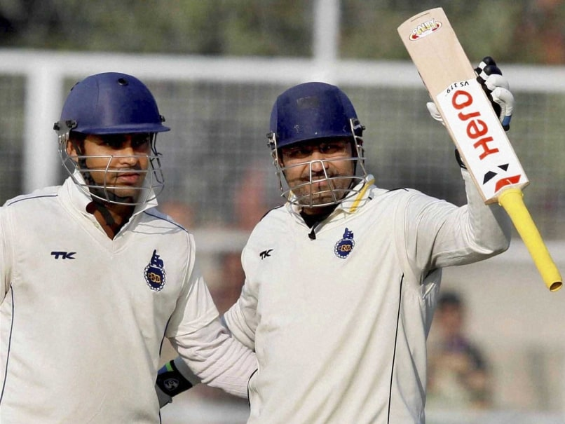 Virender Sehwag Sizzles With Unbeaten Ton in Ranji Trophy
