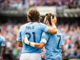 David Villa Scores Twice as New York City FC Win on Andrea Pirlo's Debut