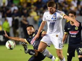 Steven Gerrard Scores on Los Angeles Galaxy Debut