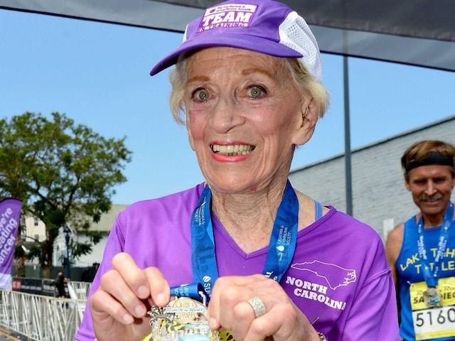 US Grandmom, 92, Sets Record for Oldest Woman Marathoner