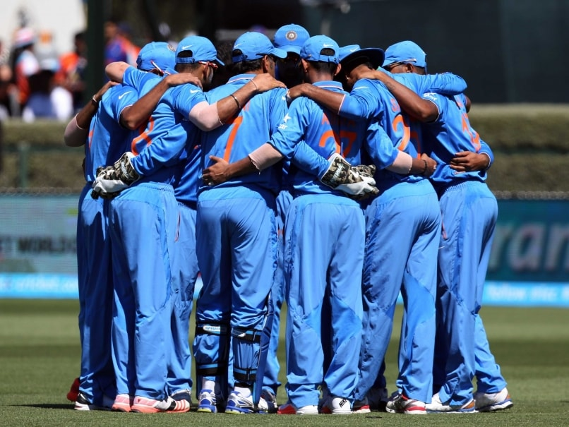 Team India huddle vs Ireland