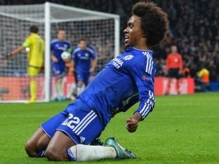 Champions League: Willian Free-Kick Gives Chelsea Nervy Win Over Dynamo Kiev