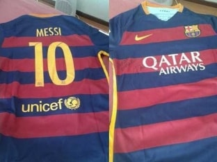 Lionel Messi Gifts Injured Ezequiel Ham His FC Bracelona Jersey