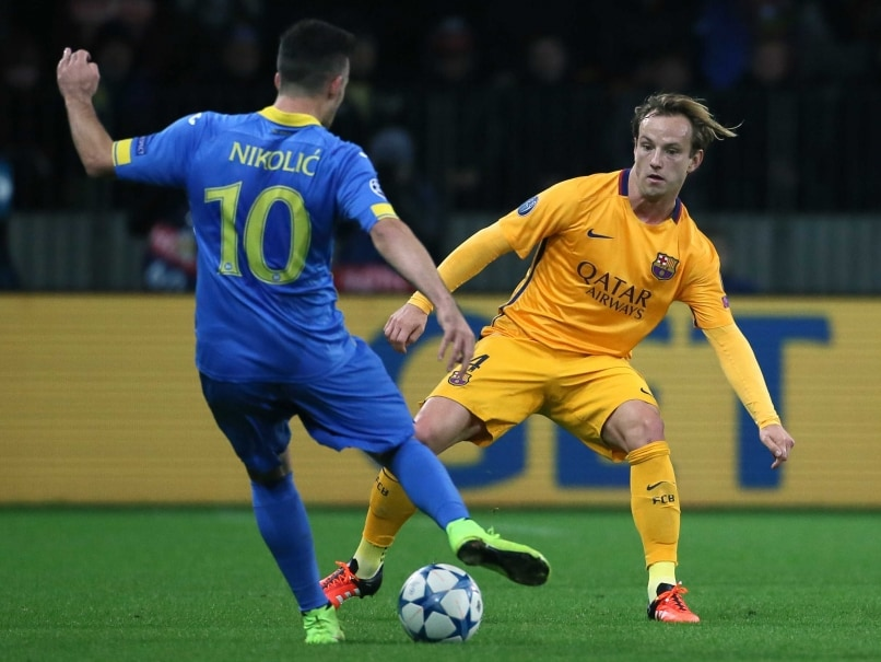 Ivan Rakitic Double Eases FC Barcelona Past BATE in Champions League