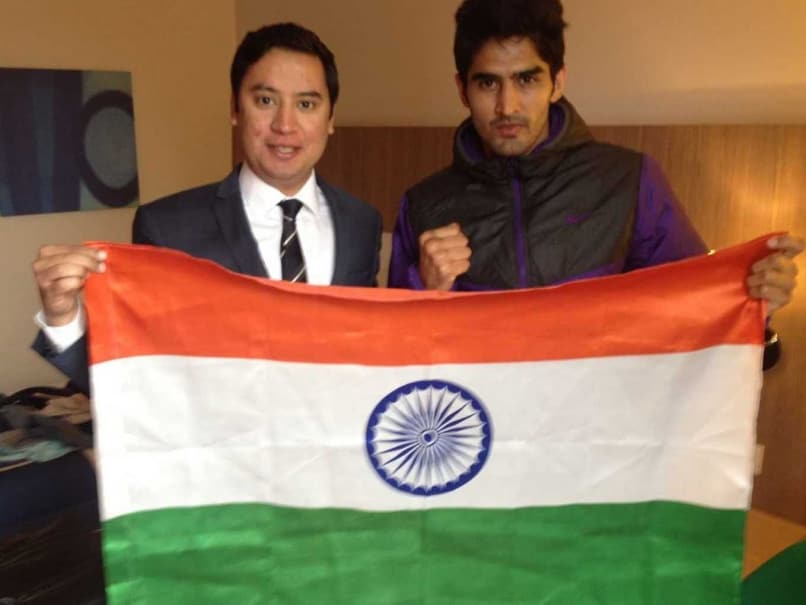 vijender sing india flag 1010
