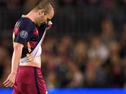 Andre Iniesta, Arda Turan Miss Barcelona Training Ahead of Copa del Rey Quarters