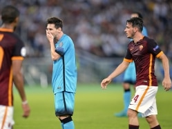 Champions League: Alessandro Florenzi Spoils Lionel Messi's 100th Game as AS Roma Hold FC Barcelona