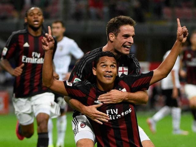 Serie A: Carlos Bacca Hits Brace as AC Milan Edge Palermo