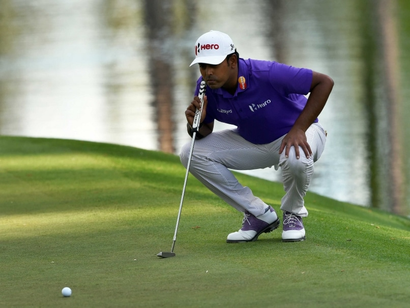 anirban lahiri tied 59th on the opening day of augusta