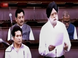 Sachin Tendulkar Attends Rajya Sabha Post Knee Surgery