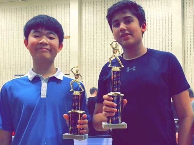 Aryan Mahajan Wins Under-16 Table Tennis Tournament in Ohio
