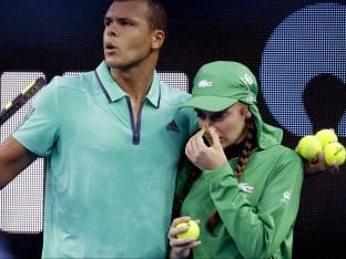 Jo-Wilfried Tsonga Comes To Aid of Australian Open Ball Girl