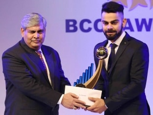 Virat Kohli Crowned Indian Cricketer of the Year At BCCI Awards