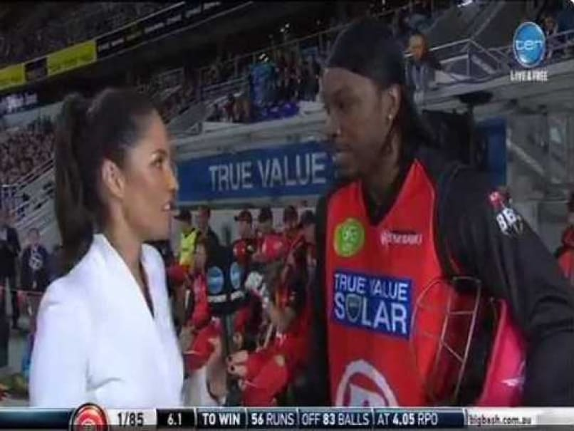 Chris Gayle Says Sorry After 'Joke' on Female Reporter