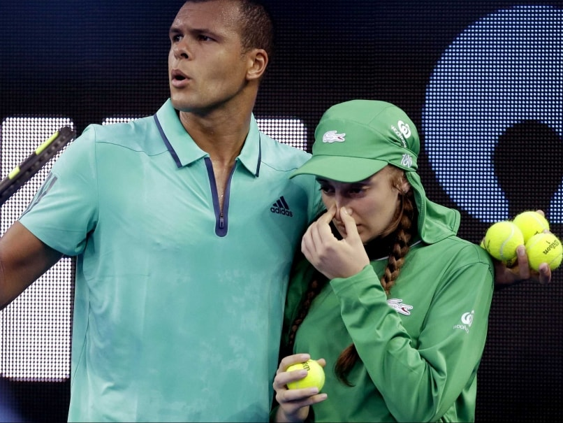 Jo-Wilfried Tsonga Comes To Aid of Australian Open Ball Girl