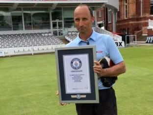 Nasser Hussain Sets Guinness World Record For Highest Cricket Catch