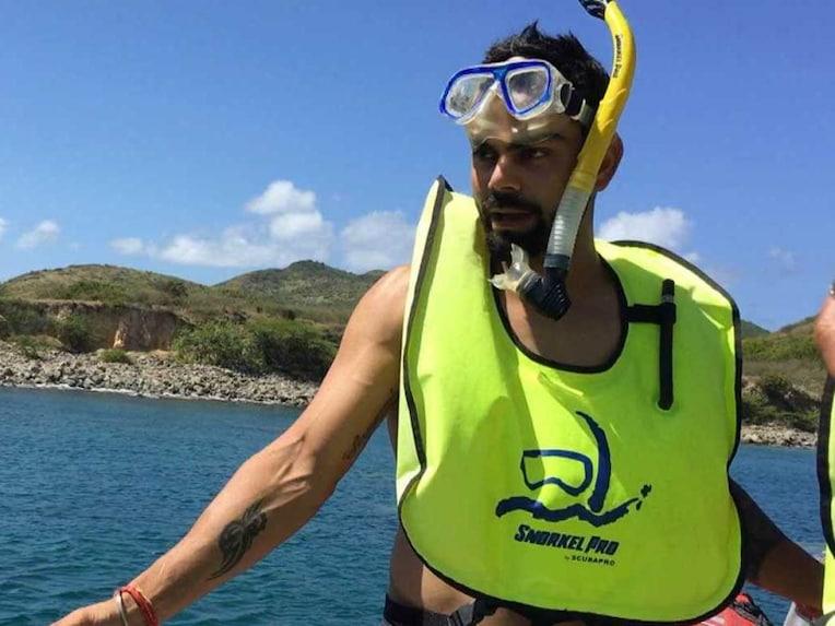 Virat Kohli Snorkeling 1307