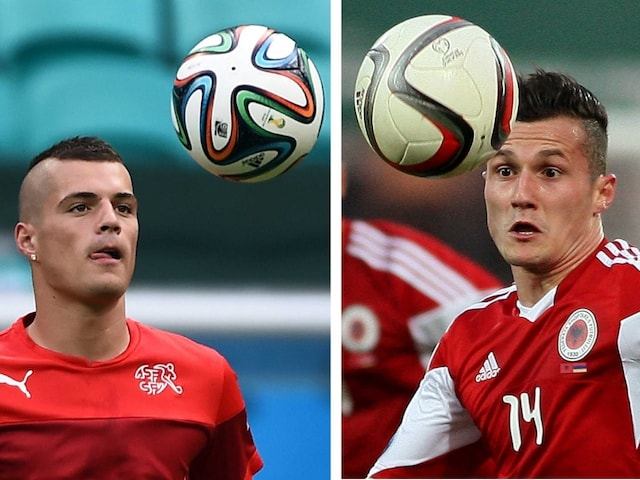 Euro 2016: Xhaka Brothers Clash as Albania Take on Switzerland