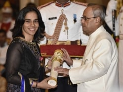 Saina Nehwal Receives Padma Bhushan Award, Hopes to Continue Making India Proud