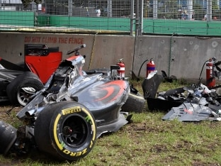 Formula One: Fernando Alonso Walks Away From Horror Crash in Australian Grand Prix