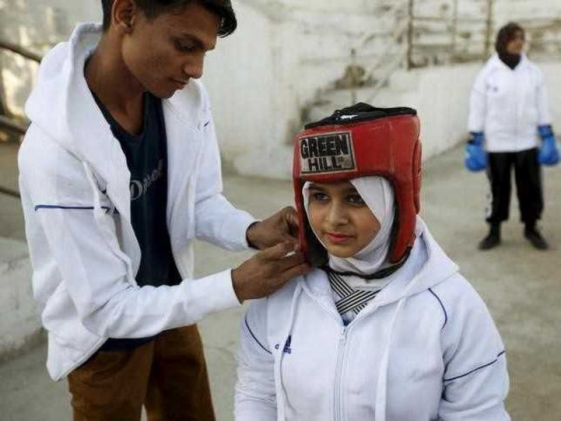 Young Pakistani Boxer