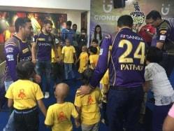 IPL: Kolkata Knight Riders Players Meet Cancer Patients