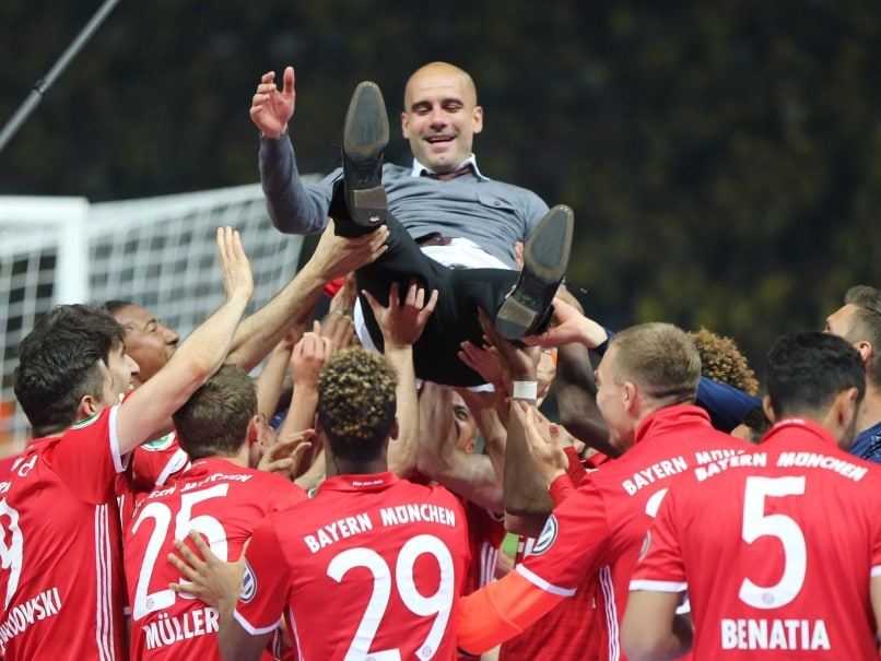 bayern munich clinch german cup give pep guardiola. Black Bedroom Furniture Sets. Home Design Ideas