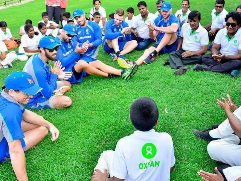 Cricketers Do Care As Australia Hold Clinic For Flood Victims In Sri Lanka