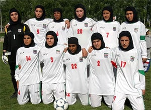 Iran to protest hijab ban on women's football team