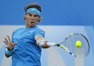 Nadal wins grass-court opener at Queen's