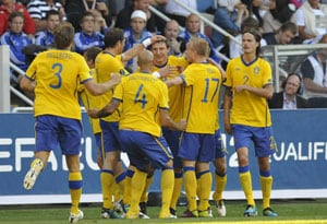 Sweden beats Finland 5-0 in Euro 2012 qualifier