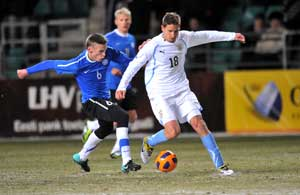 Estonia beat Uruguay 2-0 in chilly friendly
