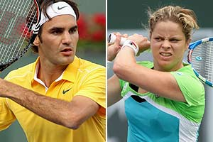 Federer, Clijsters advance at Indian Wells