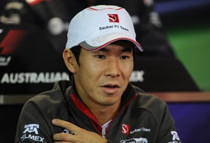 Sauber to keep drivers Kobayashi, Perez in 2012
