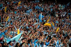 Manchester unites in football celebrations