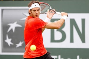 Del Potro advances after Robredo injury