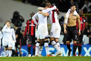 Milan ousted by Champions League newcomer Spurs