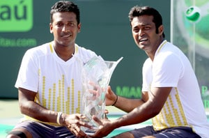 Paes-Bhupathi clinch Miami title, become World No.1